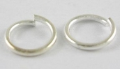 18 Gauge JUMP RING PW-T100 10g/ca.120St.  5mm/1mm silver color